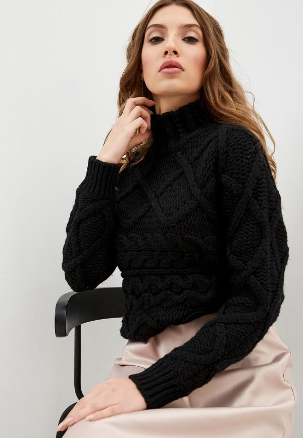 женский свитер stefanel, черный