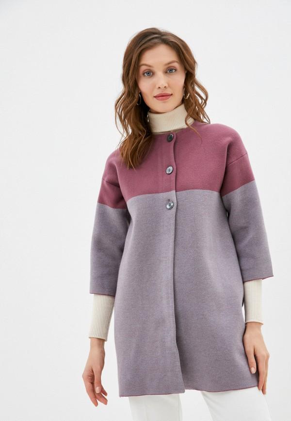 женское пальто stefanel, розовое