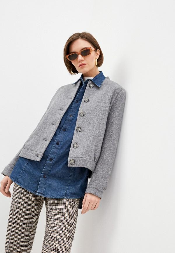 женская куртка stefanel, серая