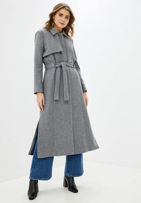 женское пальто stefanel, серое