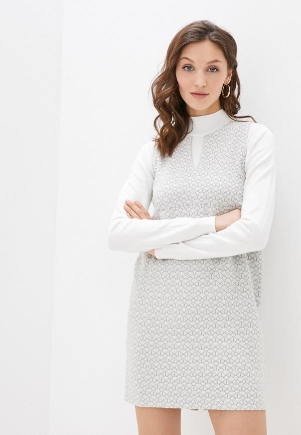 женское повседневные платье stefanel, белое