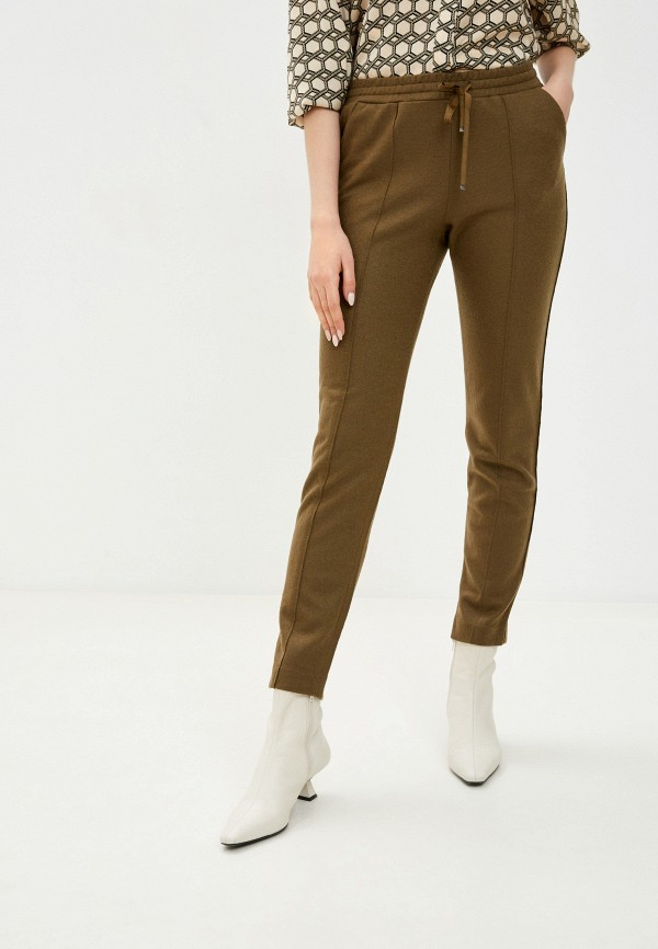 женские брюки stefanel, хаки