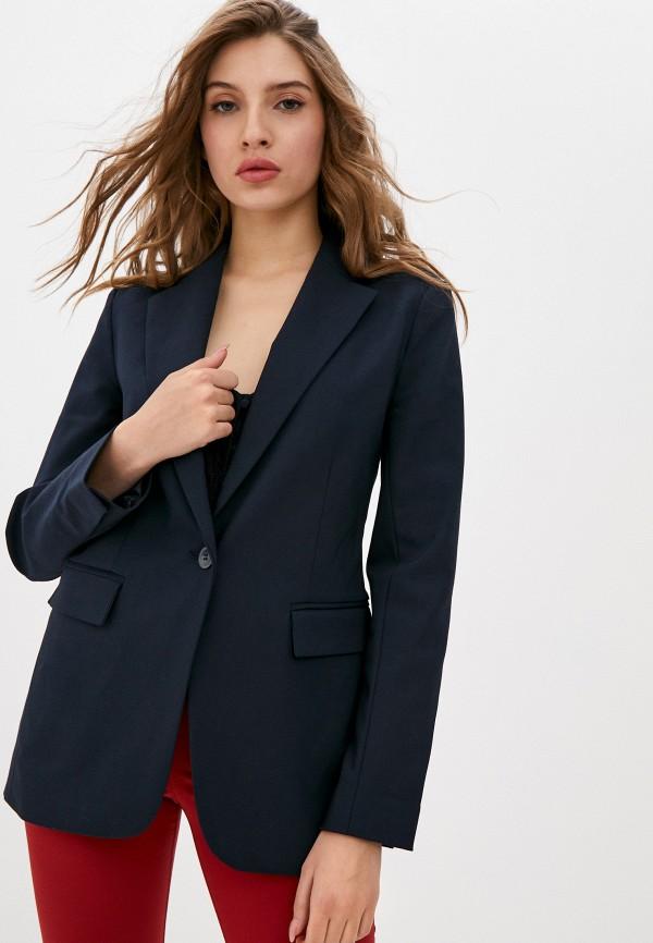женский пиджак stefanel, синий