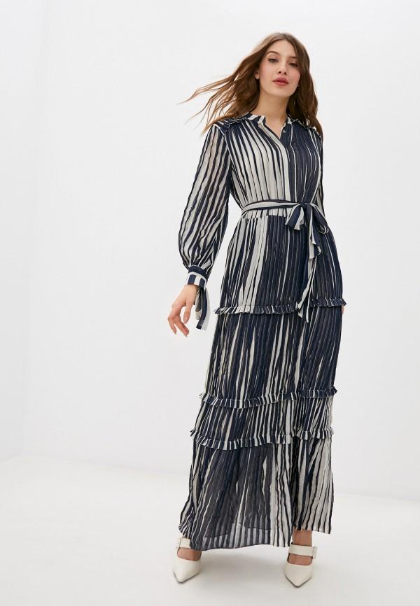 женское повседневные платье stefanel, синее