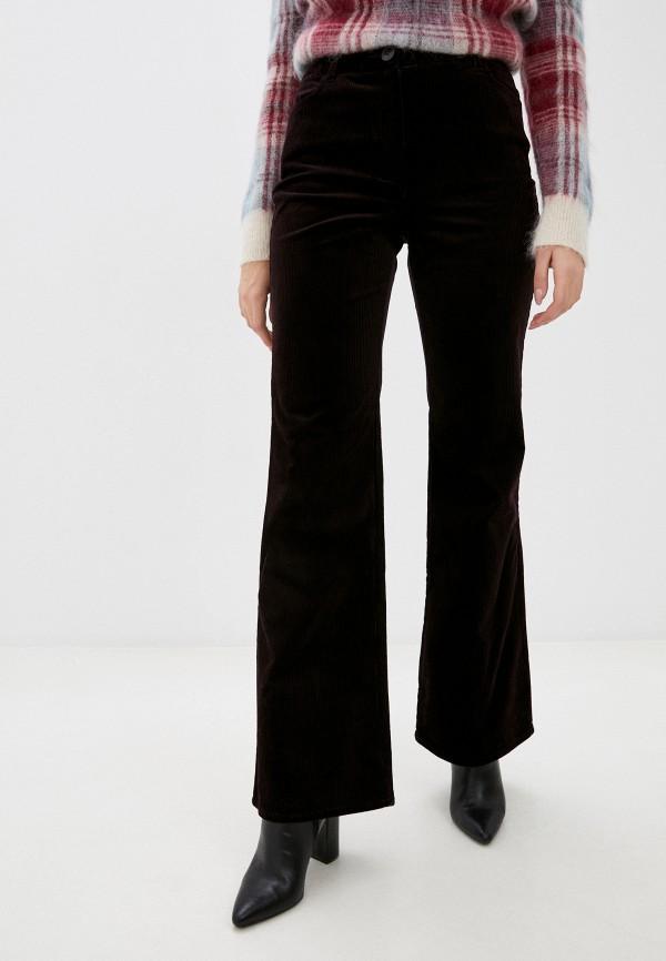 женские повседневные брюки stefanel, фиолетовые