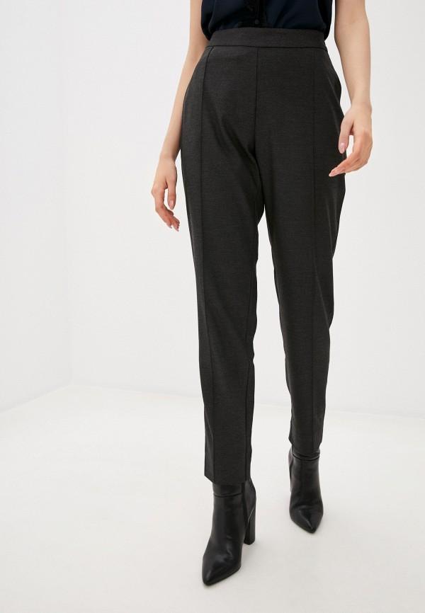 женские зауженные брюки stefanel, серые