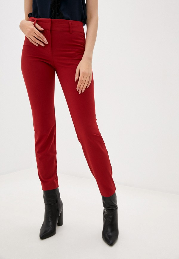 женские повседневные брюки stefanel, красные
