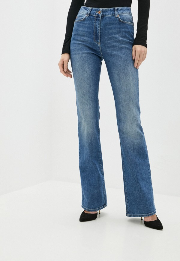 женские джинсы клеш stefanel, синие