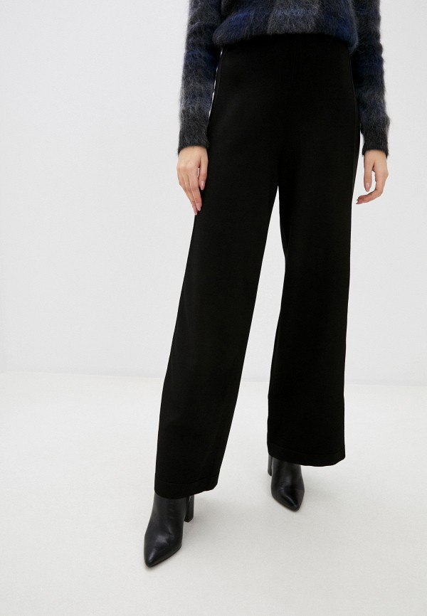 женские повседневные брюки stefanel, черные