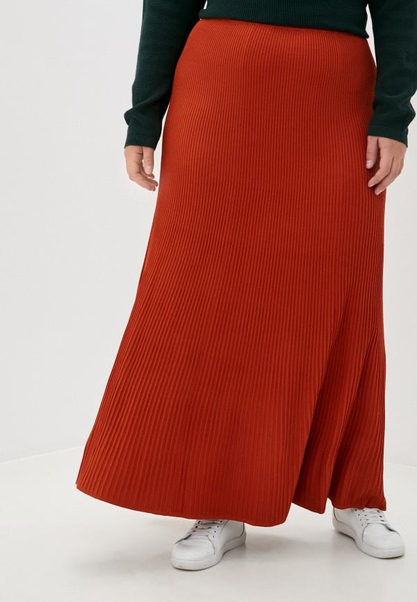 женская юбка stefanel, коричневая