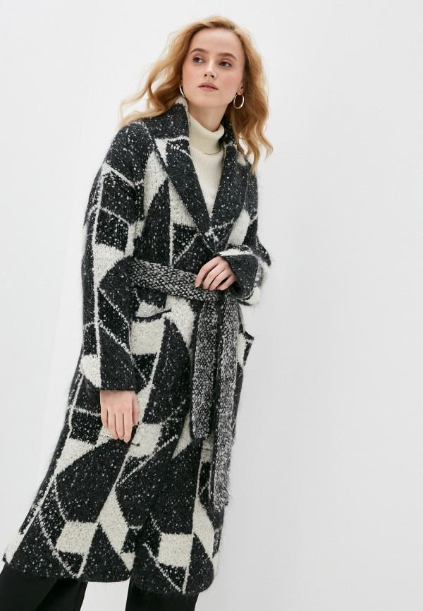 женское пальто stefanel, черное