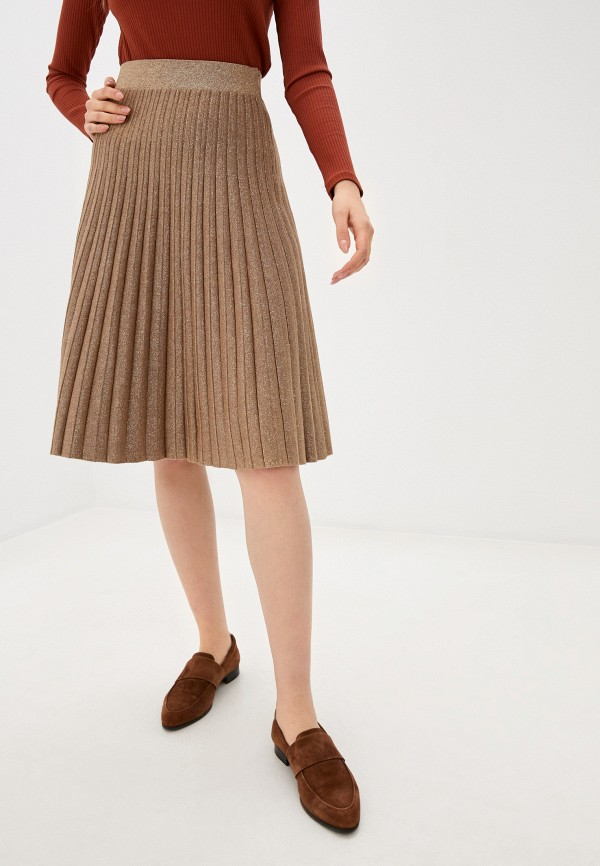 женская юбка stefanel, золотая