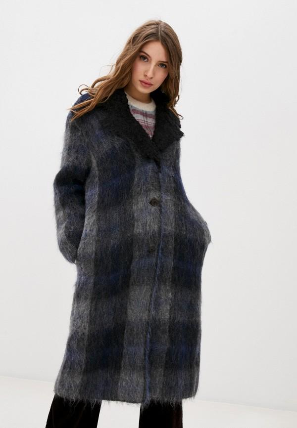 женское пальто stefanel, синее