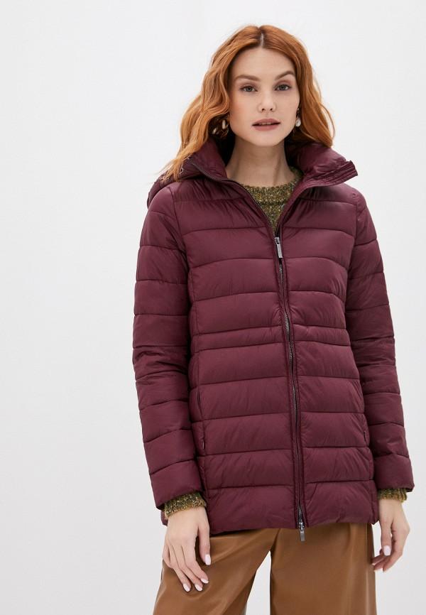 женская куртка stefanel, бордовая