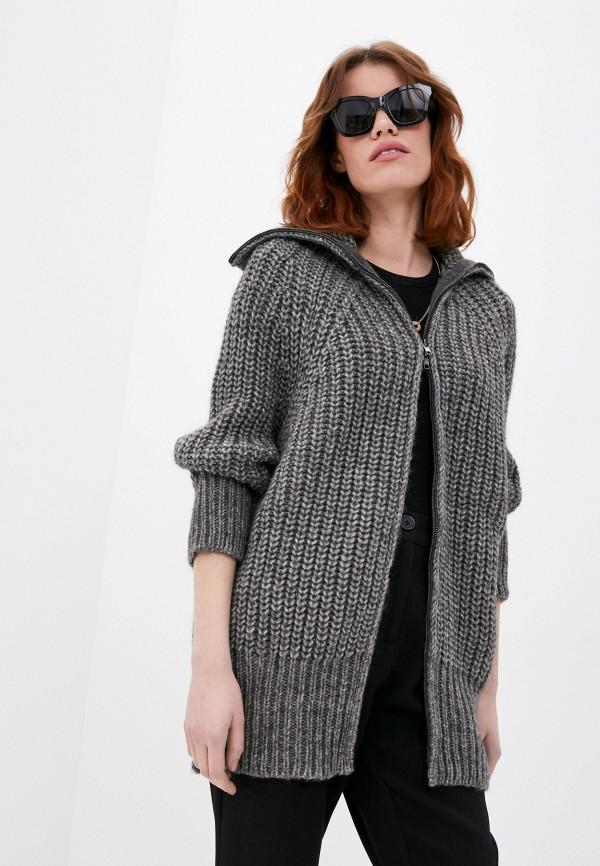 женский свитер stefanel, серый