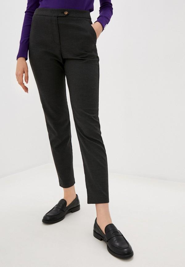 женские классические брюки stefanel, серые