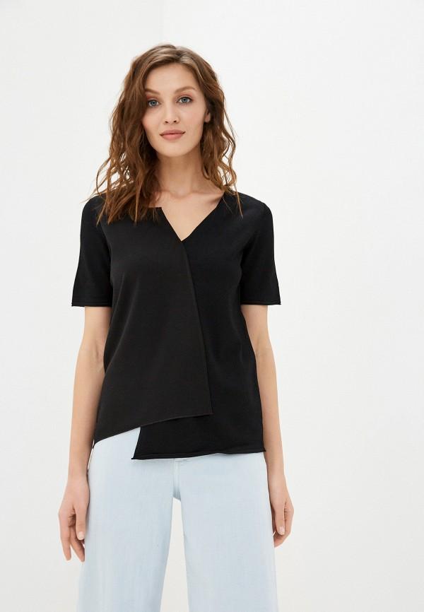 женский пуловер stefanel, черный