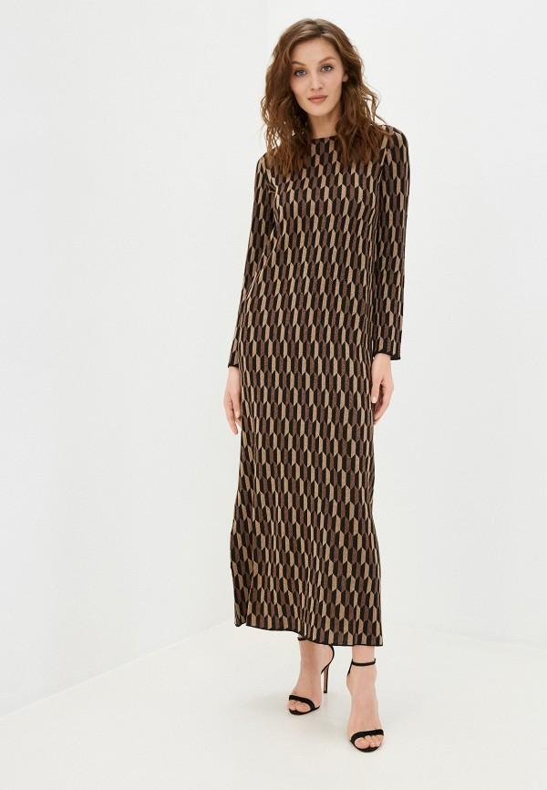 женское платье stefanel, коричневое