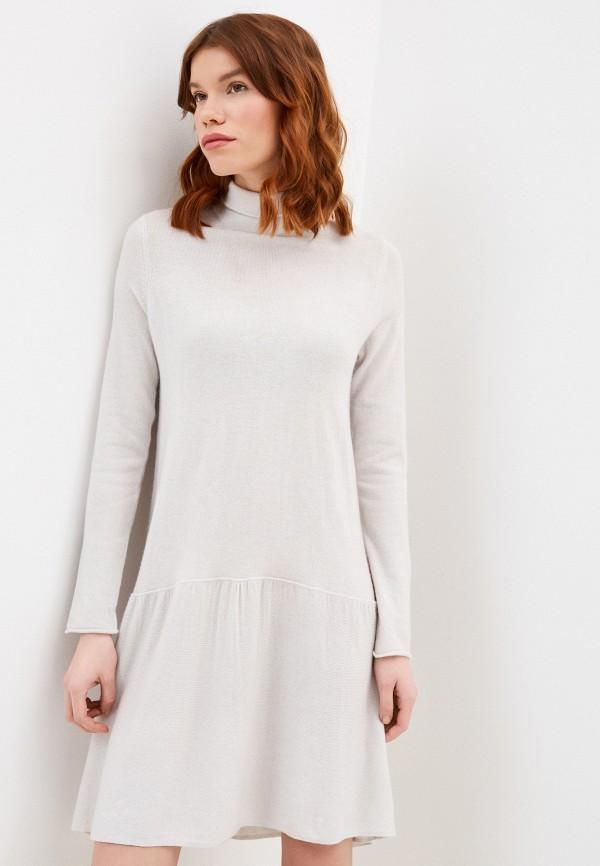 женское платье stefanel, серое