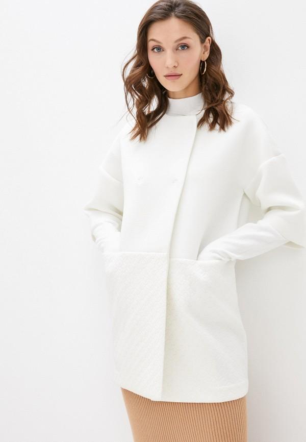 женское пальто stefanel, белое