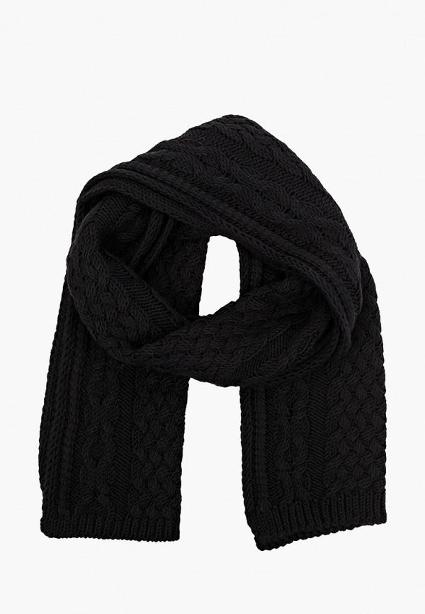 женский шарф stefanel, черный