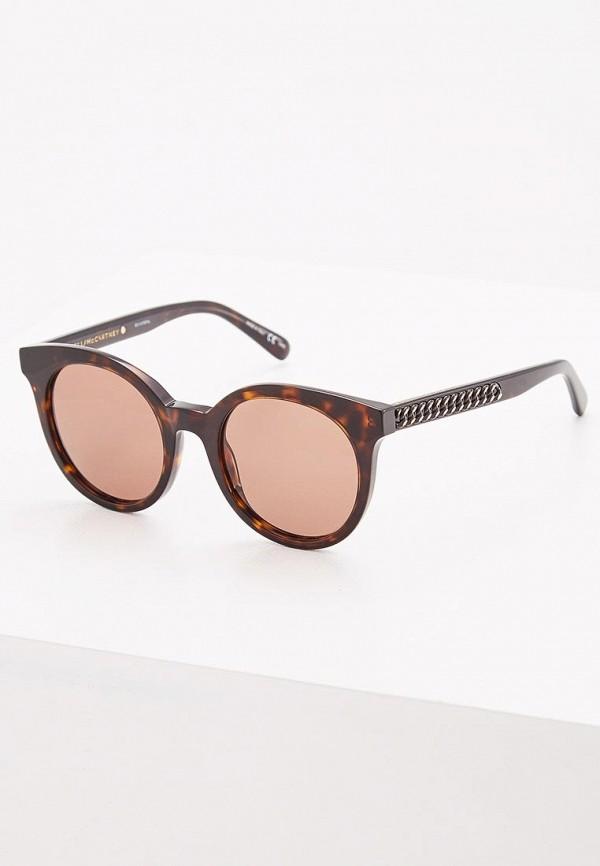 женские солнцезащитные очки stella mccartney, коричневые