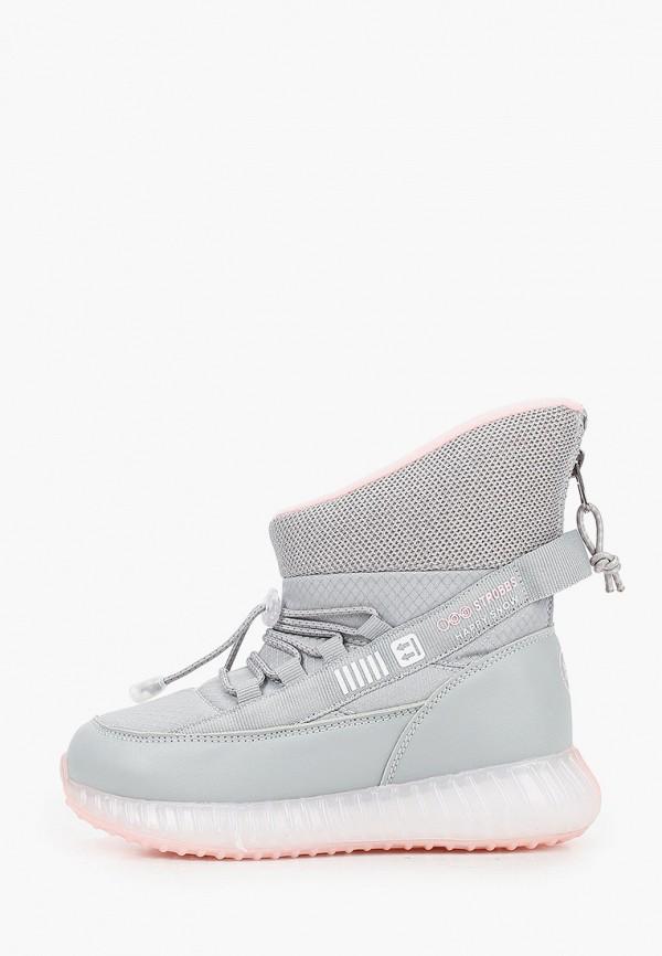 ботинки strobbs для девочки, серые