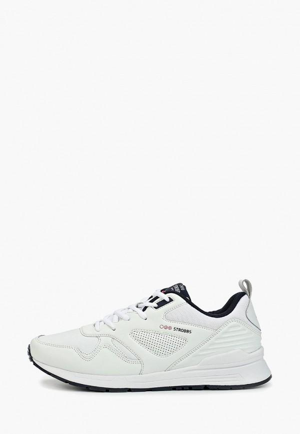 Фото - Мужские кроссовки Strobbs белого цвета