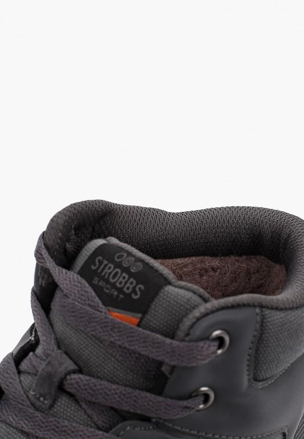 Фото 6 - Кроссовки Strobbs серого цвета