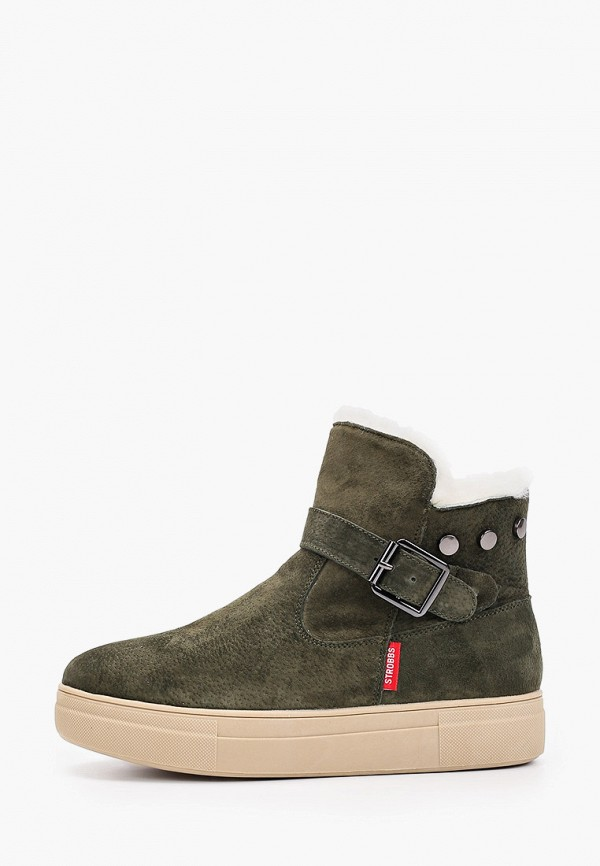 женские ботинки strobbs, зеленые