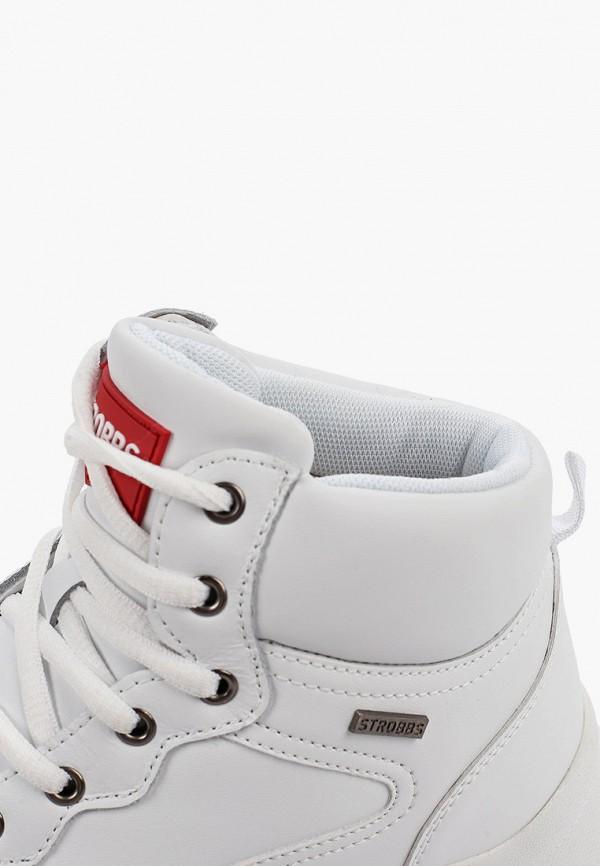 Фото 6 - женские кроссовки Strobbs белого цвета