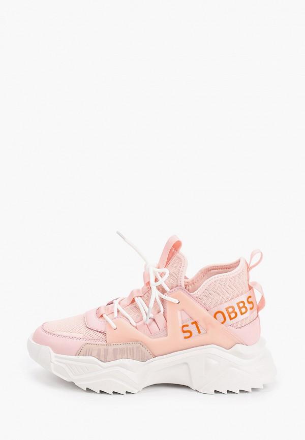 женские кроссовки strobbs, розовые
