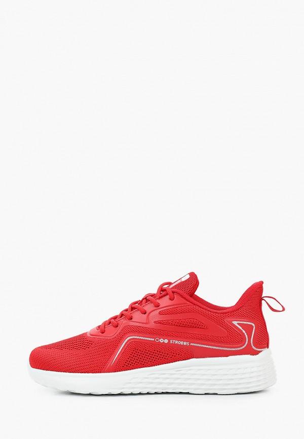 женские низкие кроссовки strobbs, красные