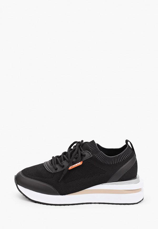 женские низкие кроссовки strobbs, черные