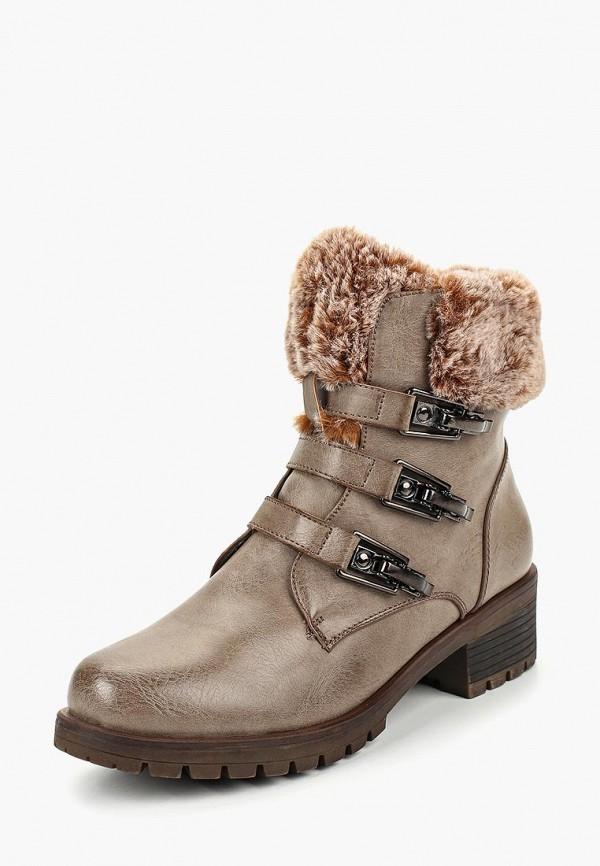 женские ботинки super mode, бежевые