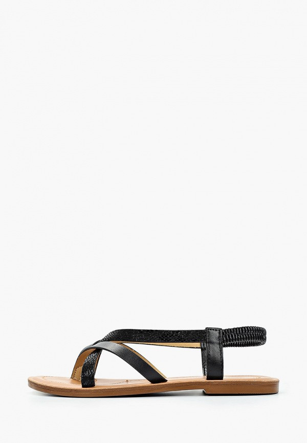 женские сандалии super mode, черные