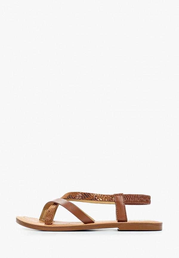 женские сандалии super mode, коричневые