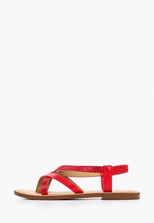 женские сандалии super mode, красные