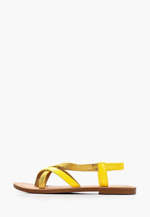 женские сандалии super mode, желтые