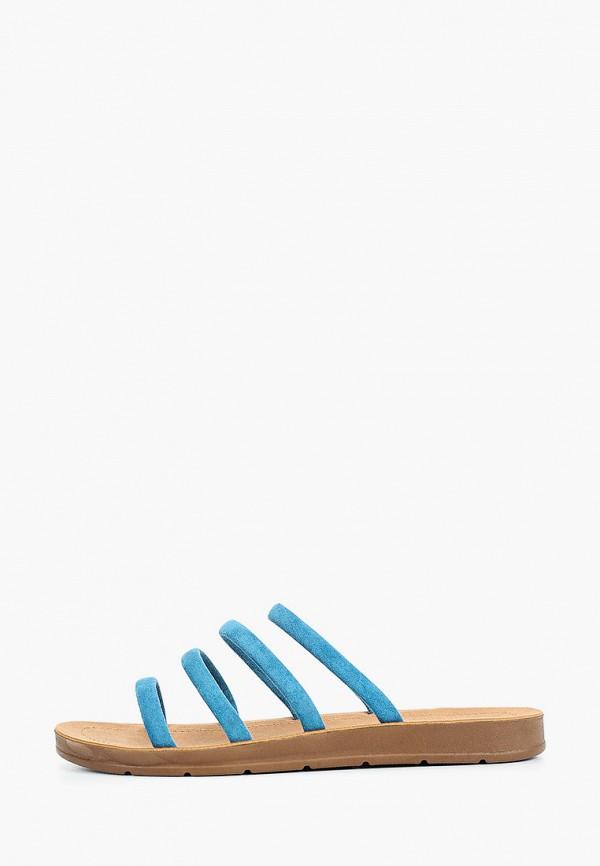 женское сабо super mode, синее