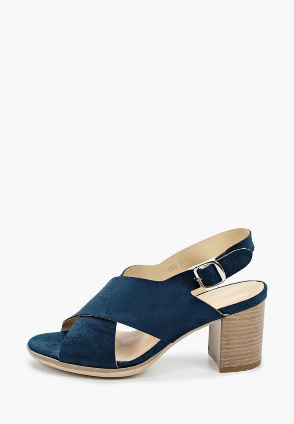 женские босоножки super mode, синие