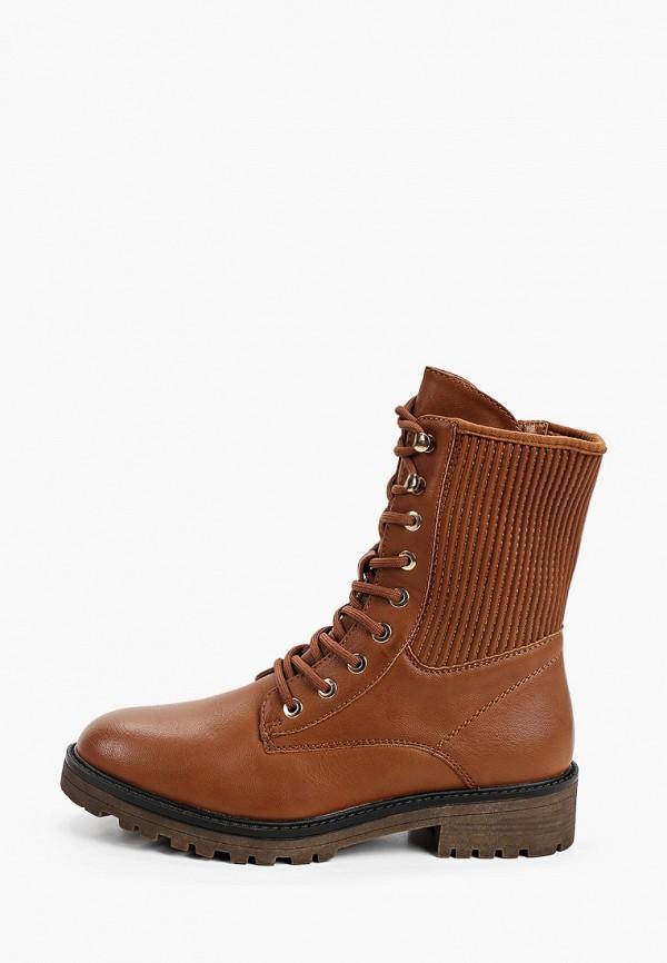 женские ботинки super mode, коричневые