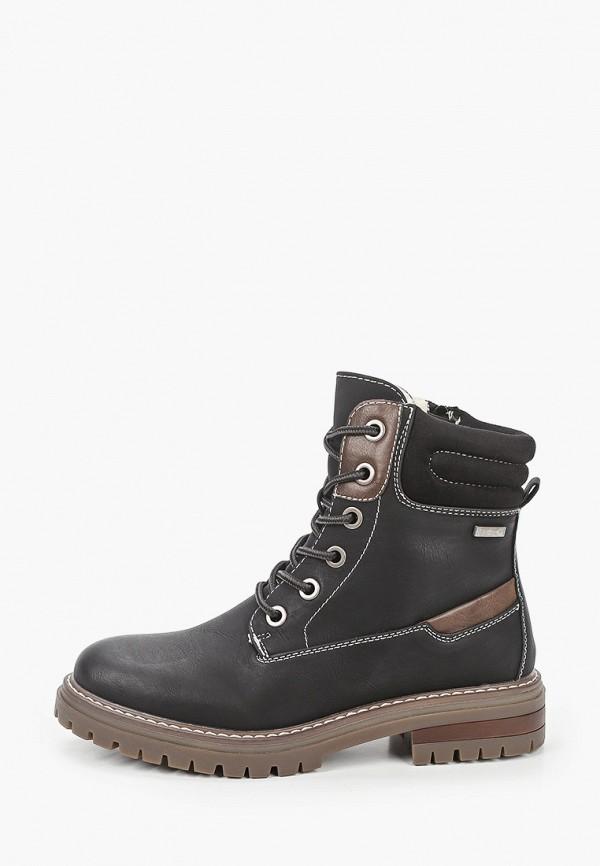 женские ботинки super mode, черные