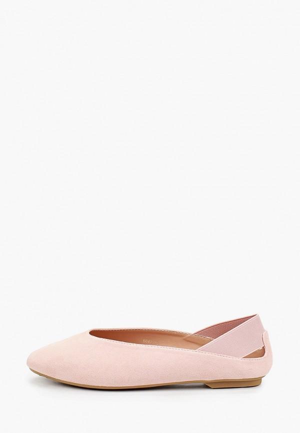 женские балетки super mode, розовые