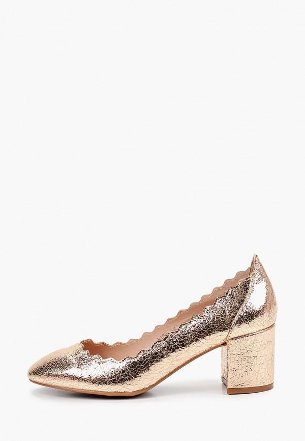 женские туфли super mode, золотые