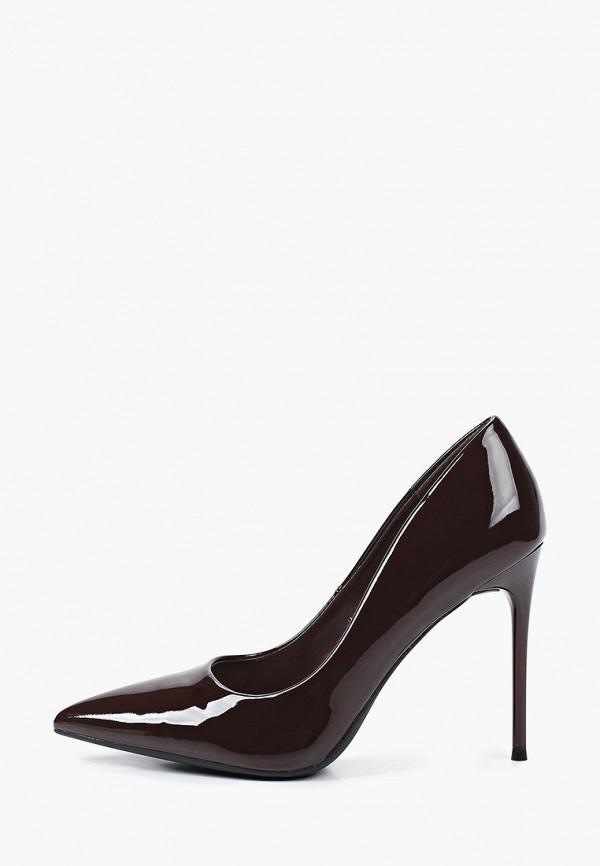 женские туфли super mode, коричневые