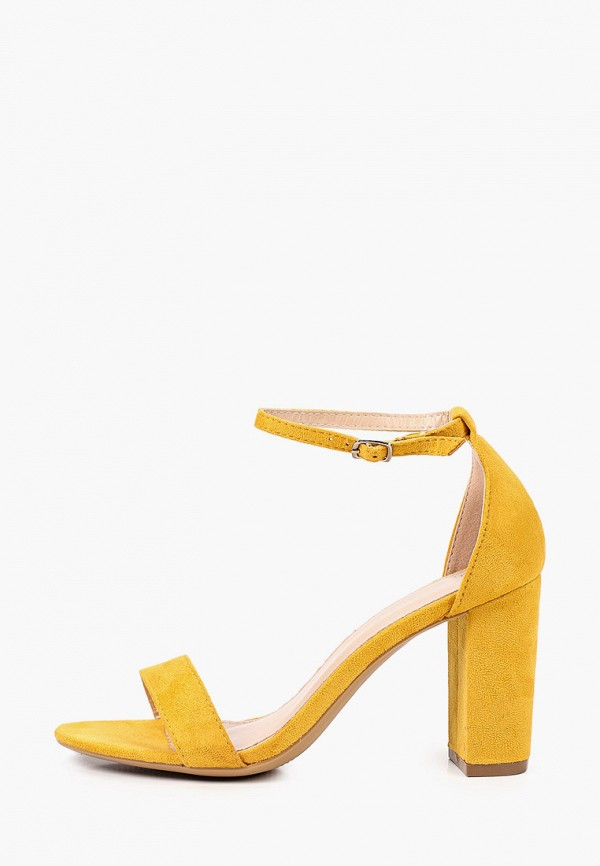 женские босоножки super mode, желтые