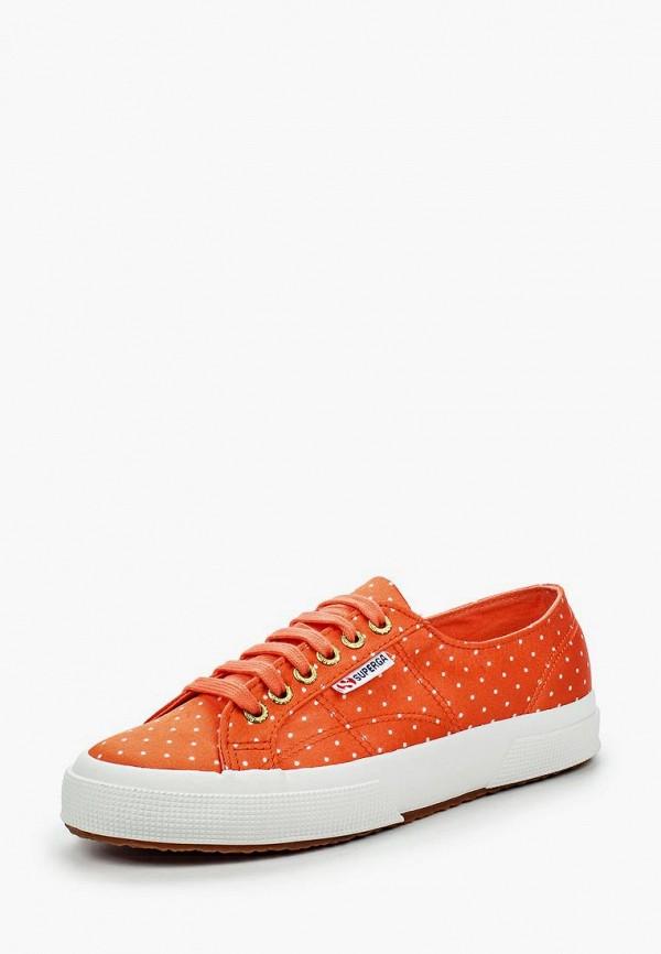мужские кеды superga, оранжевые