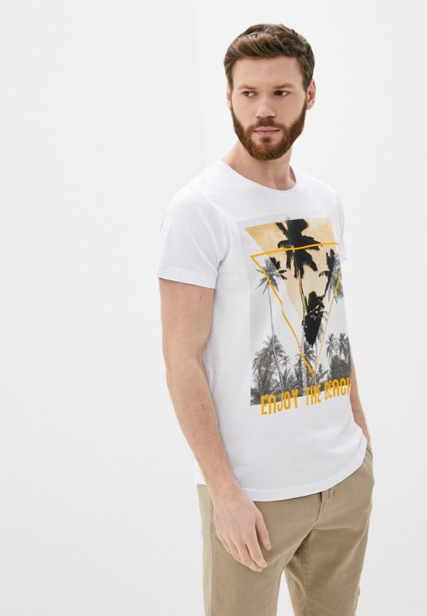 мужская футболка с коротким рукавом sublevel, белая