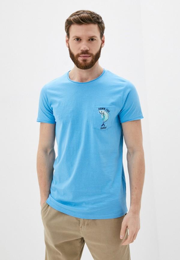 мужская футболка с коротким рукавом sublevel, голубая